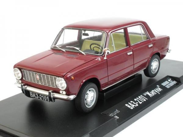 """ВАЗ-2101 """"Жигули"""" (Наш Автопром) [1970г., Вишневый, 1:18]"""