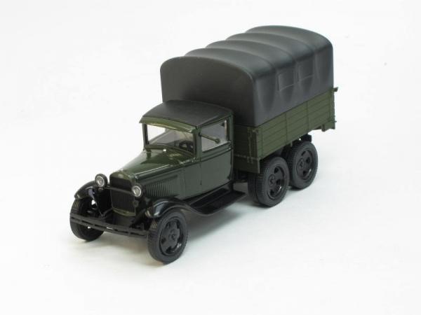 ГАЗ-ААА с тентом (Наш Автопром) [1936г., Зеленый-черный, 1:43]