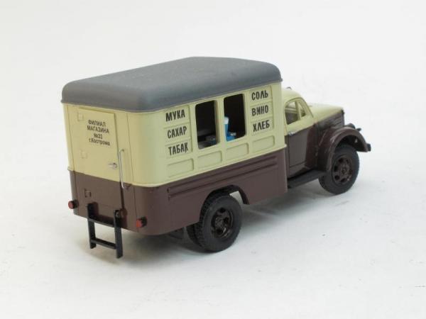 ЛуМЗ-827 (51А) Автомагазин (D.N.K.) [1955г., Коричневый, бежевый, 1:43]