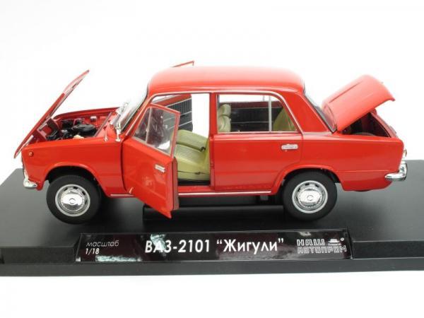 """ВАЗ-2101 """"Жигули"""" (Наш Автопром) [1970г., Красный, 1:18]"""