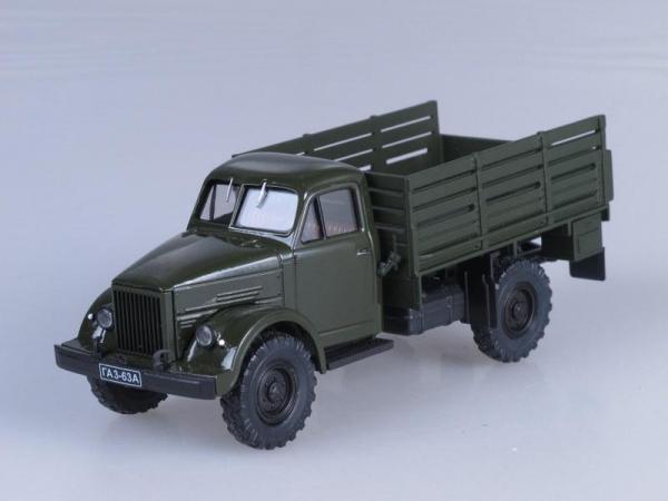 ГАЗ-63А (Наш Автопром) [1948г., Темно-зеленый, 1:43]