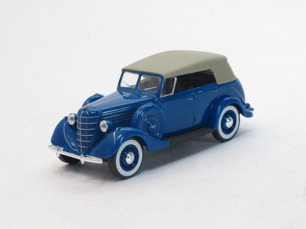 ГАЗ-11-40 с тентом (Наш Автопром) [1940г., Синий, 1:43]