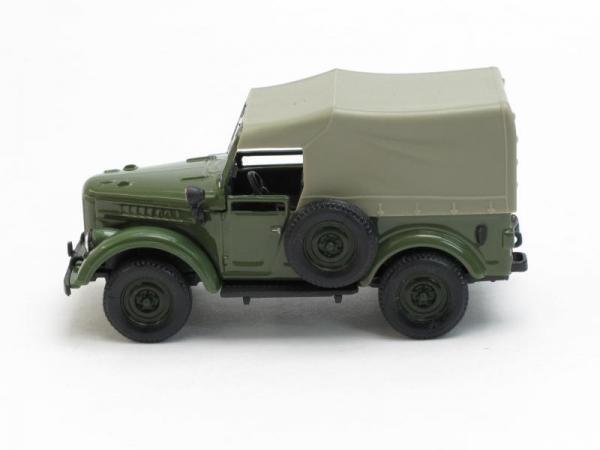 ГАЗ-69 с тентом (Наш Автопром) [1952г., Зеленый, 1:43]