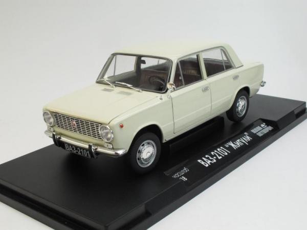 """ВАЗ-2101 """"Жигули"""" (Наш Автопром) [1970г., Кремовый, 1:18]"""