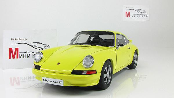 PORSCHE 911 CARRERA RS 2.7  (STANDARD VERSION) (Autoart) [1973г., Желтый, 1:18]