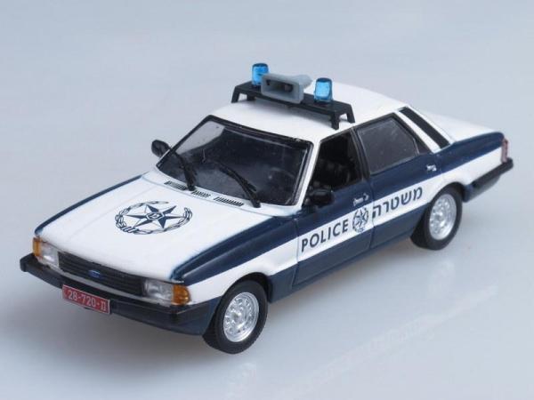 Ford Cortina MKV, Полиция Израиля (DeAgostini (Полицейские машины мира)) [1979г., Темно-синий и белый, 1:43]