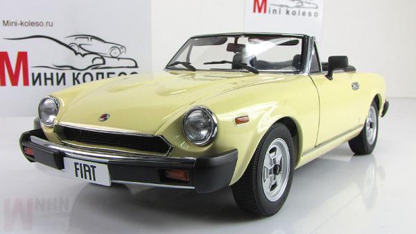 FIAT 124 SPIDER (Autoart) [1966г., Кремовый, 1:18]