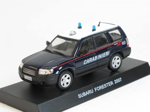 Subaru Forester IV, Итальянские карабинеры (DeAgostini (Полицейские машины мира)) [2007г., Темно-синий и белый, 1:43]