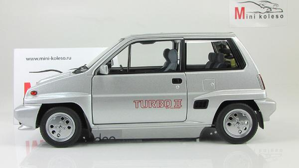 HONDA CITY TURBO II (Autoart) [1983г., Серебристый, 1:18]