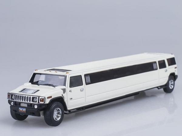 Hummer H2 Лимузин (Neo Scale Models) [2006г., Белый, 1:43]