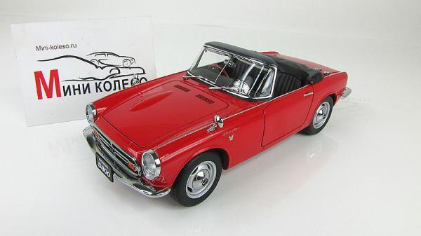 HONDA S800 ROADSTER (Autoart) [1966г., Красный, 1:18]
