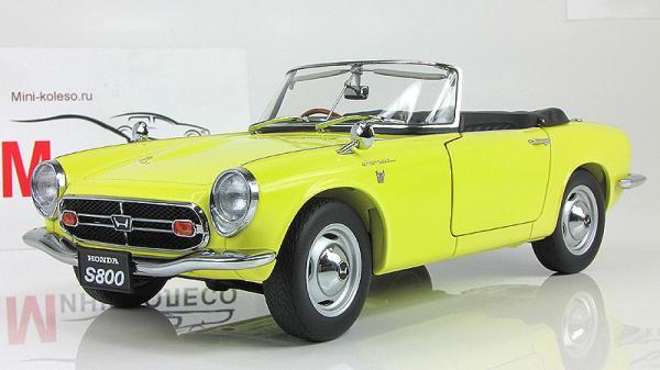 HONDA S800 ROADSTER (Autoart) [1966г., Желтый, 1:18]
