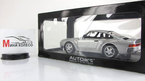 PORSCHE 959 (Autoart) [1987г., Серебристый, 1:18]