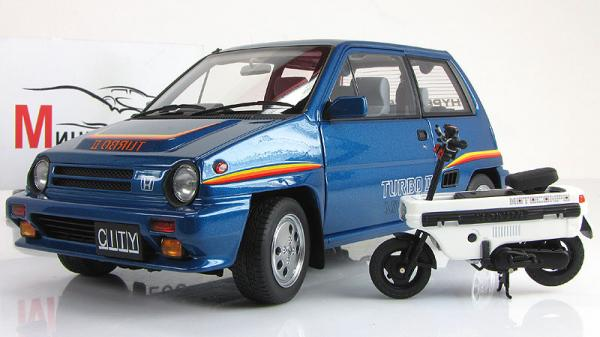 HONDA CITY TURBO II (Autoart) [1983г., Синий, 1:18]