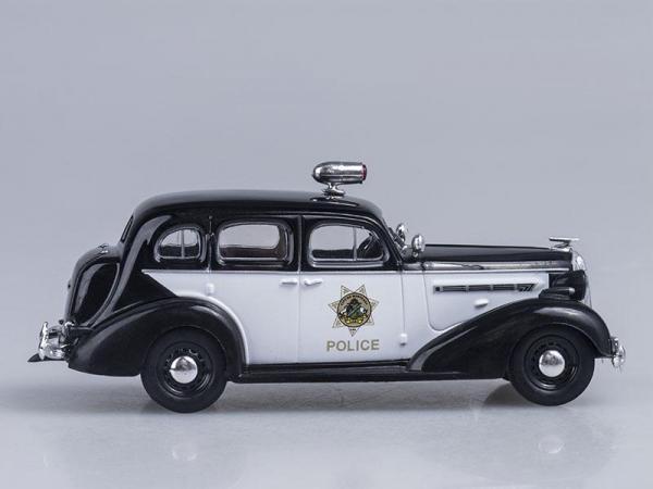 Buick Special, Полиция Калифорнии, США (DeAgostini (Полицейские машины мира)) [1962г., Черный и белый, 1:43]