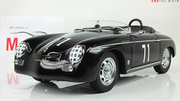 PORSCHE SPEEDSTER #71 STEVE MCQUEEN VERSION BLACK (Autoart) [1959г., Черный, 1:18]