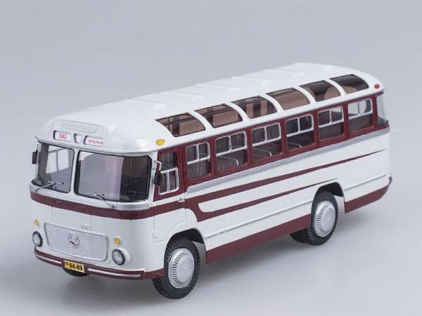ПАЗ-672 (Vector-Models) [1962г., Белый с вишневым, 1:43]