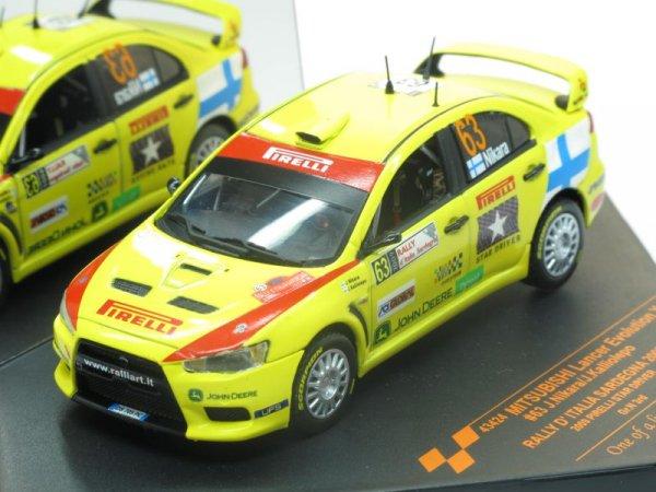 Mitsubishi Lancer Evolution X #63 J.Nikara/J.Kalliolepo (Vitesse) [2007г., Желтый, 1:43]