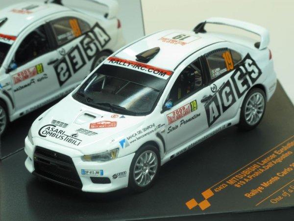 Mitsubishi Lancer Evolution X #19 A.Proh/A.Dell Agostino (Vitesse) [2007г., Белый, 1:43]