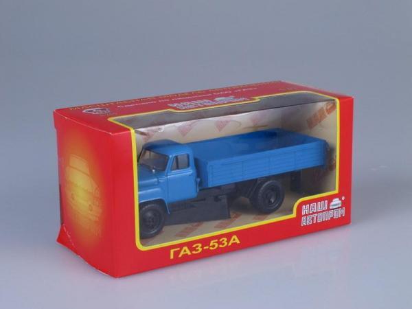 ГАЗ-53А (Наш Автопром) [1965г., Синий, 1:43]