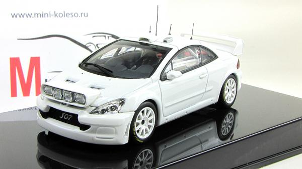 PEUGEOT 307 WRC 2005 PLAIN BODY VERSION (Autoart) [2004г., Белый, 1:43]