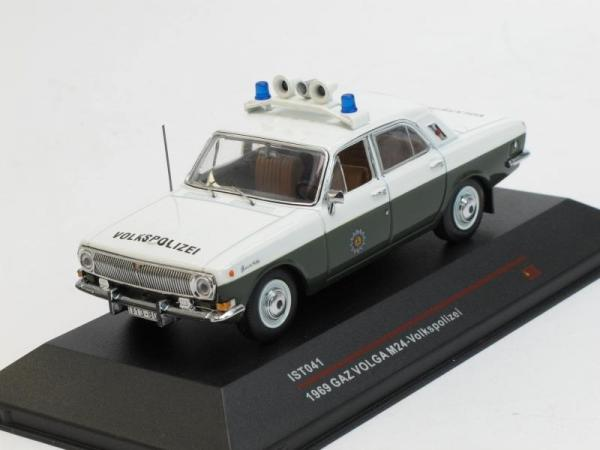 ГАЗ-24 «Волга» «Volkspolizei» (IST Models) [1973г., Белый и хаки, 1:43]