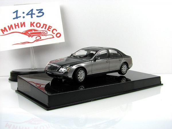 MAYBACH 57 SWB (Autoart) [2002г., серый/темно-серый, 1:43]