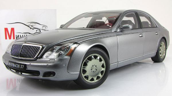 MAYBACH 57 SWB (HIMALAYAS GREY MIDDLE/HIMALAYAS GREY BRIGHT MET) (Autoart) [2002г., Серый, 1:18]
