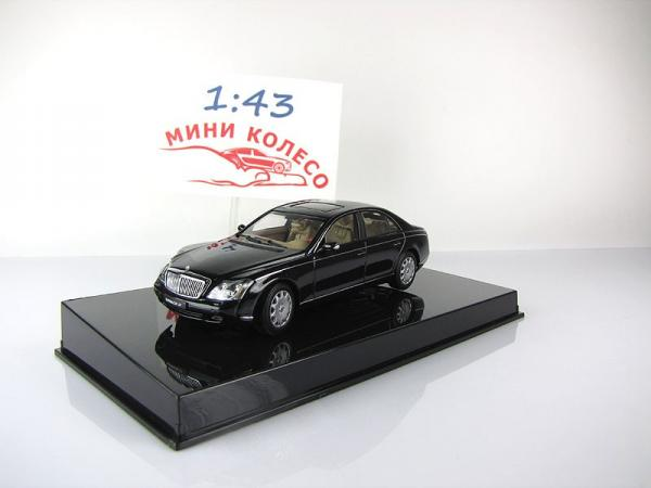 MAYBACH 57 SWB (CASPIAN BLACK CHROMAFL AIR (Autoart) [2002г., Черный, 1:43]