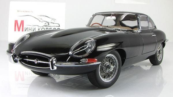 JAGUAR E-TYPE COUPE SERIES I 3.8 (Autoart) [1961г., Черный, 1:18]