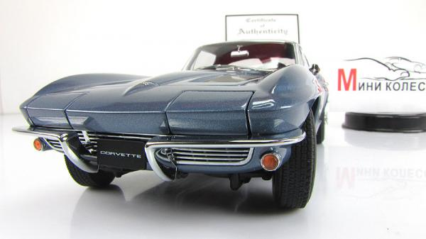 CHEVROLET CORVETTE COUPE (Autoart) [1963г., Голубой, 1:18]