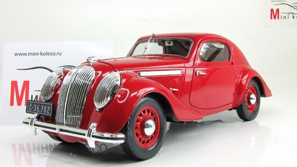 Skoda Popular Sport Monte Carlo (Abrex) [1935г., Красный, 1:18]