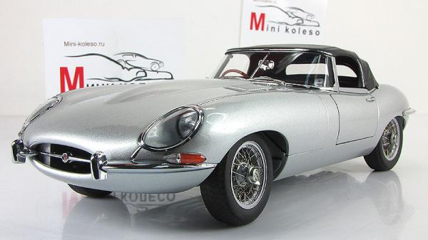 JAGUAR E-TYPE ROADSTER SERIES I 3.8 (Autoart) [1961г., Серебристый, 1:18]