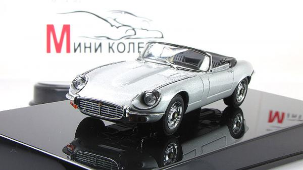 JAGUAR E-TYPE ROADSTER SERIES III V12 (Autoart) [1971г., Серебристый, 1:43]