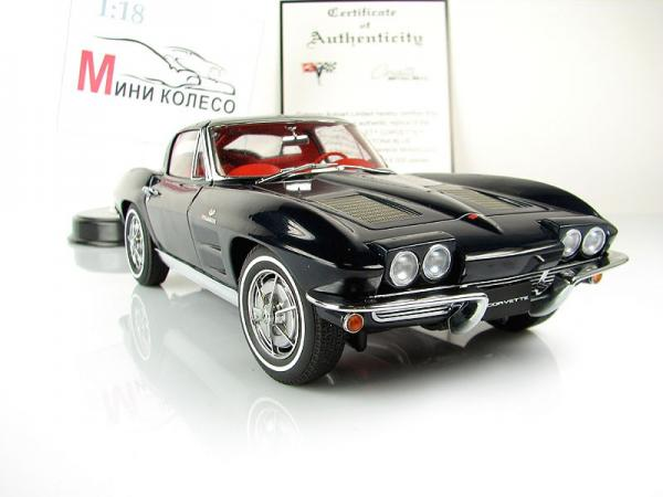 CHEVROLET CORVETTE COUPE - DAYTONA BLUE (Autoart) [1963г., Синий, 1:18]
