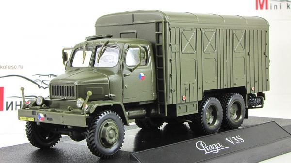 Praga V3S, сontainer truck (Abrex) [1953г., Хаки, 1:43]