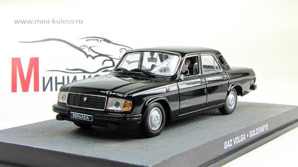 """ГАЗ-31029 """"Волга"""" Джэймс Бонд 007 """"Goldeneye"""" (Atlas/IXO) [1995г., Черный, 1:43]"""
