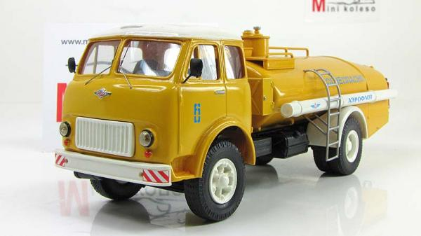 МАЗ-500 ТЗ 7,5 (ALF) [1965г., Желтый/белый, 1:43]