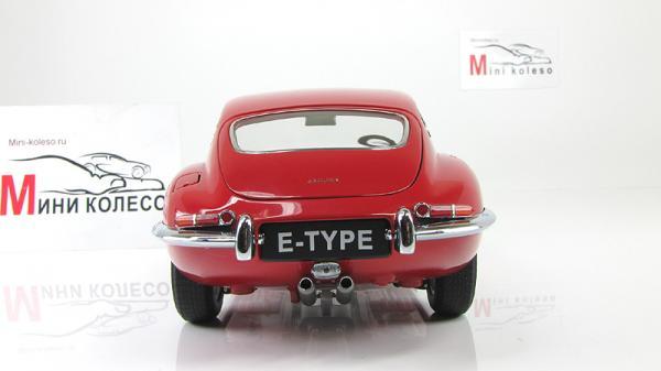 JAGUAR E-TYPE COUPE SERIES I 3.8 (Autoart) [1961г., Красный, 1:18]