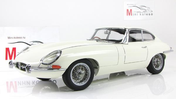 JAGUAR E-TYPE COUPE SERIES I 3.8 (Autoart) [1961г., Белый, 1:18]