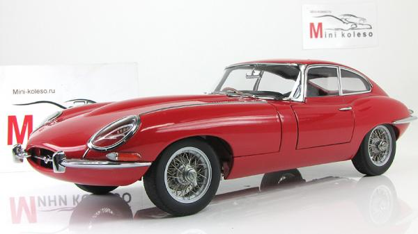JAGUAR E-TYPE COUPE SERIES I 3.8 (Autoart) [1961г., Красный, 1:18]