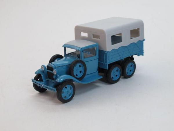 ГАЗ-ААА Каракумский пробег (Наш Автопром) [1936г., Голубой, 1:43]