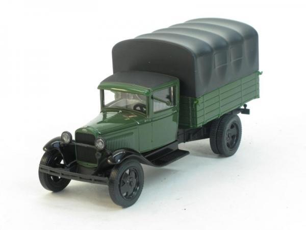 ГАЗ-АА с тентом (Наш Автопром) [1932г., Зеленый/черный, 1:43]