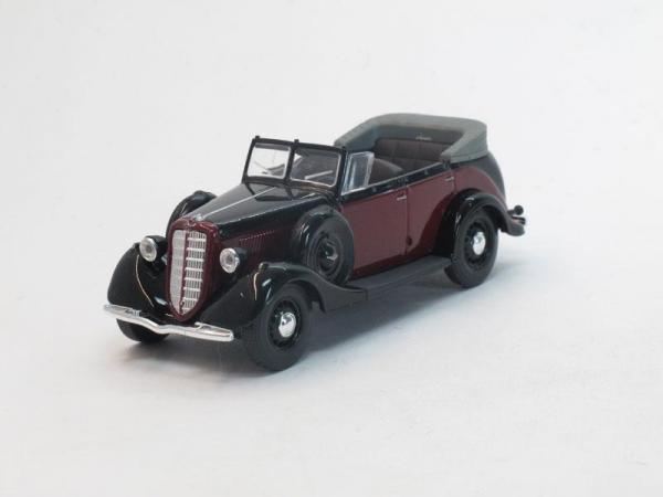 ГАЗ-М1 фаэтон открытый (Наш Автопром) [1936г., Бордовый/черный, 1:43]