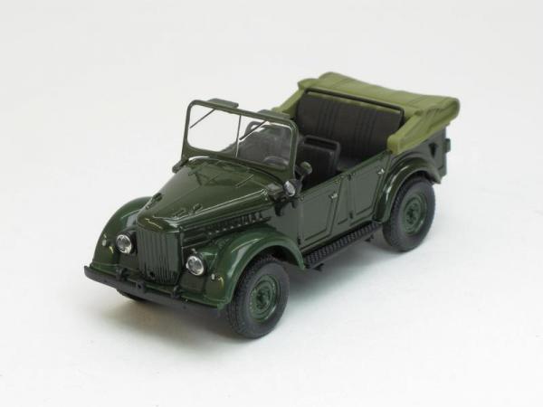 ГАЗ-69А открытый (Наш Автопром) [1952г., Темно-зеленый, 1:43]