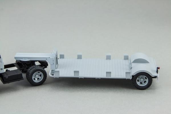 ГАЗ-51П + Т-213 полуприцеп (DiP Models) [1956г., Серый, 1:43]