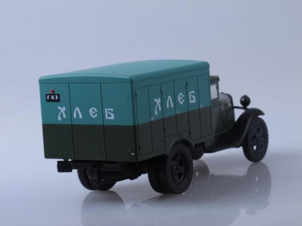ГАЗ-АА Развозка хлеба (DeAgostini (Автомобиль на службе)) [1932г., Хаки с зеленым, 1:43]
