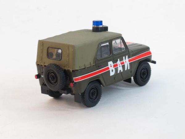 УАЗ-469 ВАИ (DeAgostini (Автомобиль на службе)) [1972г., Хаки с красной полосой, 1:43]