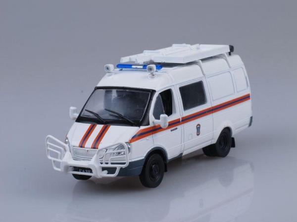 "ГАЗ-2705 ""ГАЗель"" АСМ МЧС (DeAgostini (Автомобиль на службе)) [1995г., Белый, 1:43]"