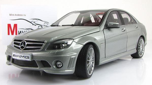 MERCEDES-BENZ C63 AMG (Autoart) [2007г., Серый, 1:18]
